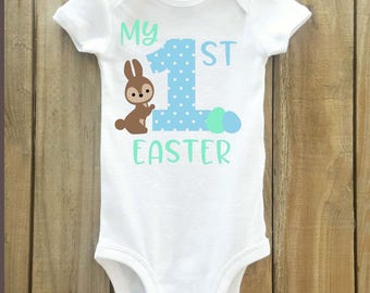 Boy's first easter shirt, easter shirt, boys easter shirt, first easter, 1st easter shirt, boys easter outfit, easter, baby easter shirt