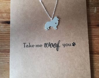 Woof Cards | Sheltie Card | Dog cards | Travel cards | Good luck cards | Graduation cards | Fun cards | Gift for her | Sheltie birthday card