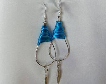 Earrings - Hoop Earrings - Boho Earrings - Feather Earrings