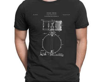 Slingerland Snare Drum Patent T Shirt, Gibson Drum Art, Drummer Gift, Percussion, Drum Shirt P145