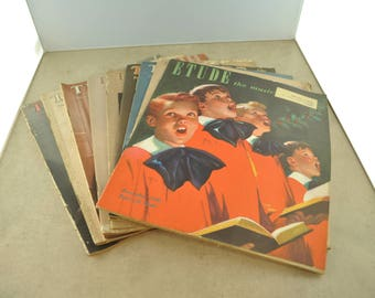The Etude Music Magazine of 1948 - Quantity of 9