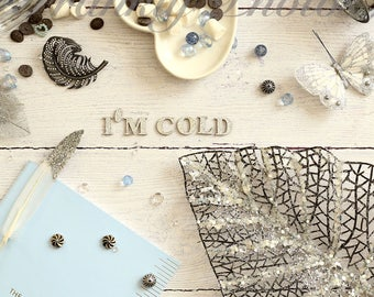 Winter Styled Lifestyle Stock Image on Wooden Backdrop / Stock Photo / Styled Stock Photography / Christmas Flatlay /Frankly Photos File #27