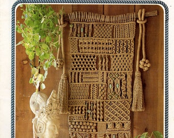 Vintage Julianos Hang It All Book 2 Macrame Patterns eBook PDF Instant Digital Download Ultimate Knot Guide 81 Knots LOTS of Knots 1970s