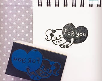 Hand Carved For You Rubber Stamp