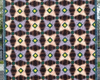 Pineapple Quilt Block.  King Size Quilt for Sale.