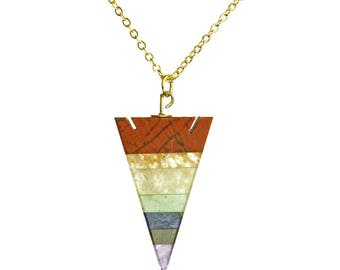 Chakra Arrowhead Gold Necklace