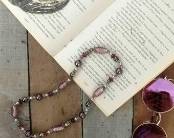 vintage purple pearls