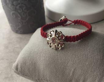 Rhinestone Macrame Bracelet