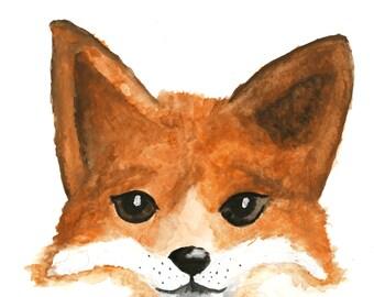 Poster - Aquarel - Fox | Decoration - Gift