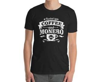 Coffee and Monero - Monero shirt - funny monero tee - monero fan - monero lovers tee - monero crypto - monero currency - monero logo