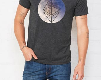 Ethereum T Shirt MOON Premium • Cryptocurrency t shirt • Cryptocurrency tshirt • Shirt Bitcoin • Ethereum tshirt • Bitcoin tshirt • Bitcoin
