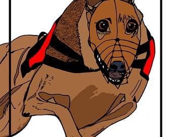 Original Greyhound Print