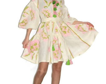 Vyshyvanka Bohemian Clothing Vishivanka Ukrainian Dress Embroidered Dresses Kaftan Abaya Caftan Custom Embroidery Boho Clothes Ukraine Kleid