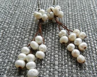 River pearl earrings.