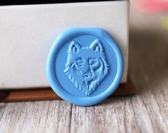 Wolf wax seal stamp kit, animal seal, Christmas gift,party wax seal stamp set, wedding wax stamp