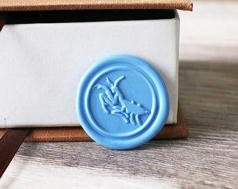 Mantis wax seal stamp kit, woodland animal seal, wedding envelope seal,party wax seal stamp set