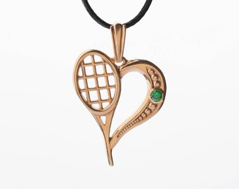 Sterling silver Love tennis, gold plated pendant