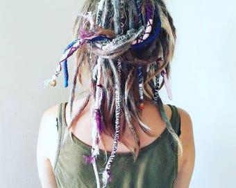 Dreadlock Extension, Gypsy lock, Clip in, Clip on Festival Wear/Wrap, Extensions