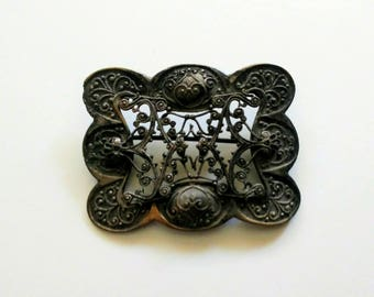 Victorian Metal Brooch