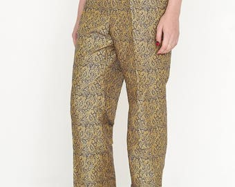VINTAGE Gold Leaf Retro PTA Trousers