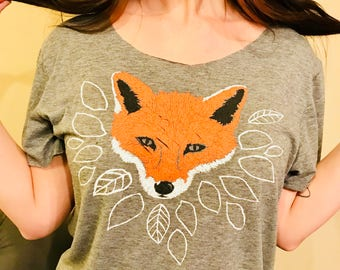 Distressed+Redressed Fox Tee