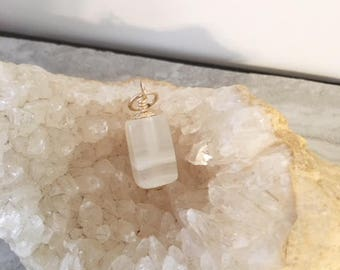 Onyx square shape drop, necklace add on, 19mm onyx stone, gold filled, white stone, small gift, onyx dangle