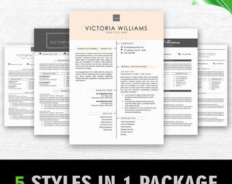 Modern Resume Template Instant Download CV Template Cover Letter  Professional Creative Resume Teacher Resume Word Resume