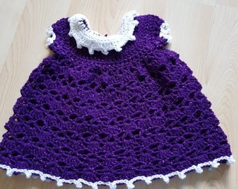 3-6 months sparkly purple baby dress
