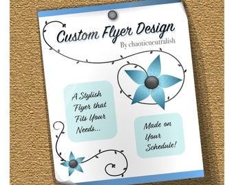 Custom Flyer Design - one-sided flyer