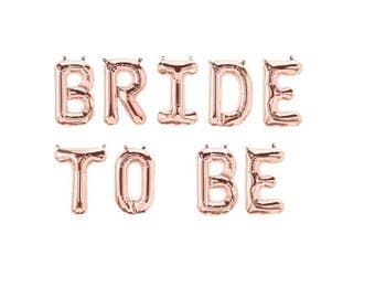 Bride To Be Rose Gold Balloons,Bride To Be Letter Balloons,Bride To Be Rose Gold,Bride To Be Balloons,Bridal Shower Balloons,She Said Yes