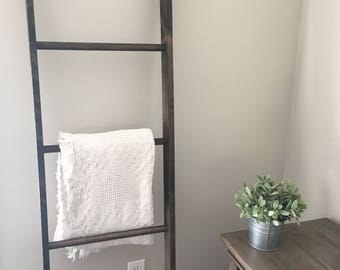5ft tall Rustic Blanket Ladder