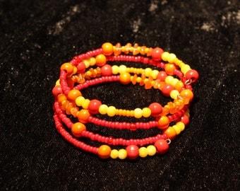 Spiral Bracelet Orangrot