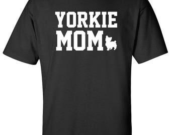 Yorkshire Terrier Yorkie Dog mom 100% Cotton Graphic Logo Tshirt