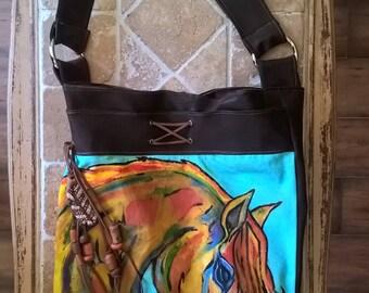 wsetern horse tote bag