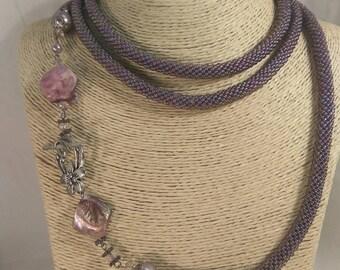 "Lariat bead ""Purple haze"""