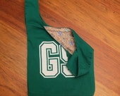 Green netball bib bag - reversible bag with lining - great team gift for netball lovers and netball players - custom available