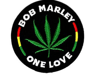 Bob Marley One Love embroidered patch