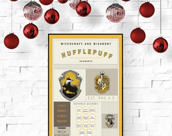 Hufflepuff House Poster