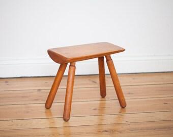 Alpine Log Stool vintage 50s stool Occasional table mid century stool 50s side table