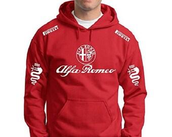 Hooded sweatshirt Alfa Romeo custom racing driver