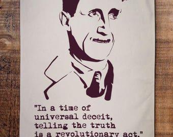 George Orwell tea towel
