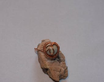 One Bead Wire Wrapped Ring