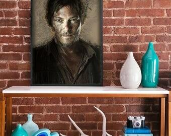 Daryl The walking dead art poster