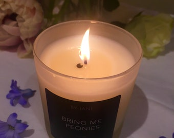 Bring me peonies - Soy candle - Peony - vegan - why give roses when you can have these?