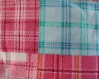 Fleece dog blanket plaid free shipping