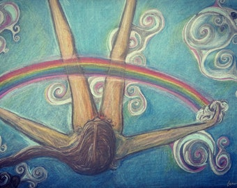 Pagan meditation drawing.