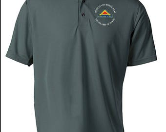 US 7th Army Embroidered Moisture Wick Polo Shirt -7093