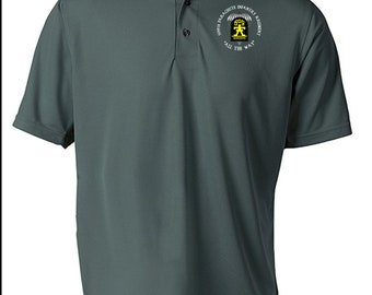 509th Parachute Infantry Regiment Embroidered Moisture Wick Polo Shirt -8747