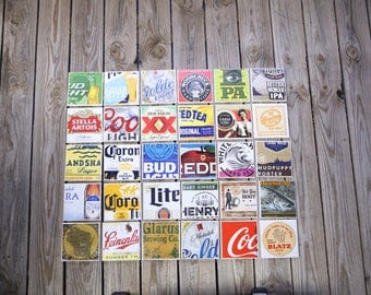 Beer Coasters - Mix & Match Set Of 4 Ceramic Beer Coasters - Beer Coasters, Drink Coasters, Beer Gifts, Craft Beer Gifts.