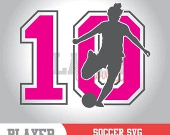 Soccer Silhouette SVG, Soccer SVG, Soccer Sport svg, Soccer Girl digital clipart, Soccer silhouette, cut file, design, A-057